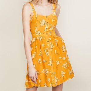 Madewell Silk Fleur Bow-Back dress size 00